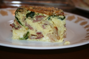 Typically frittatas are best served at room temperature.  Nutritious & Delicious!!!